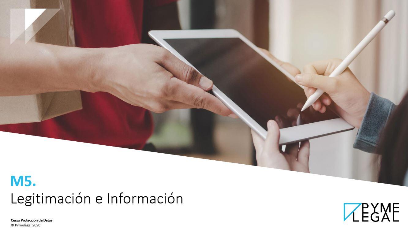 Módulo 5: Legitimación e Información
