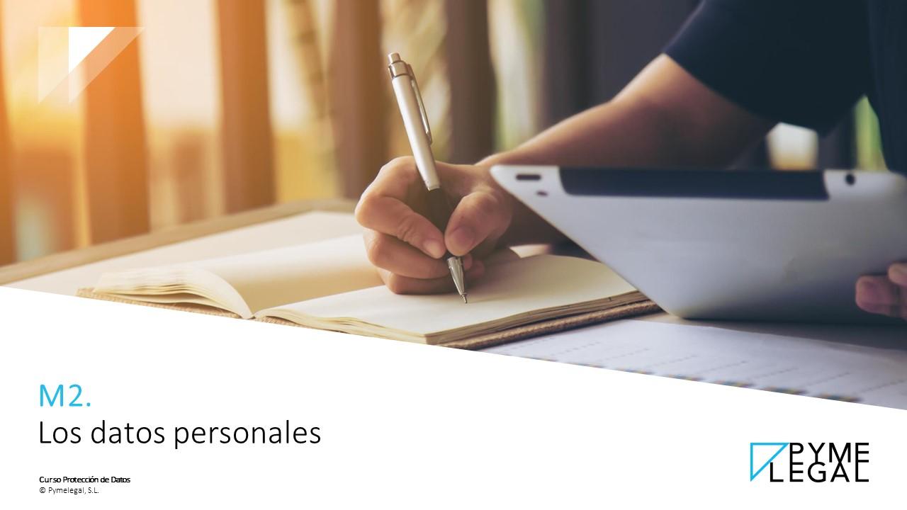 Módulo 2: Los datos personales