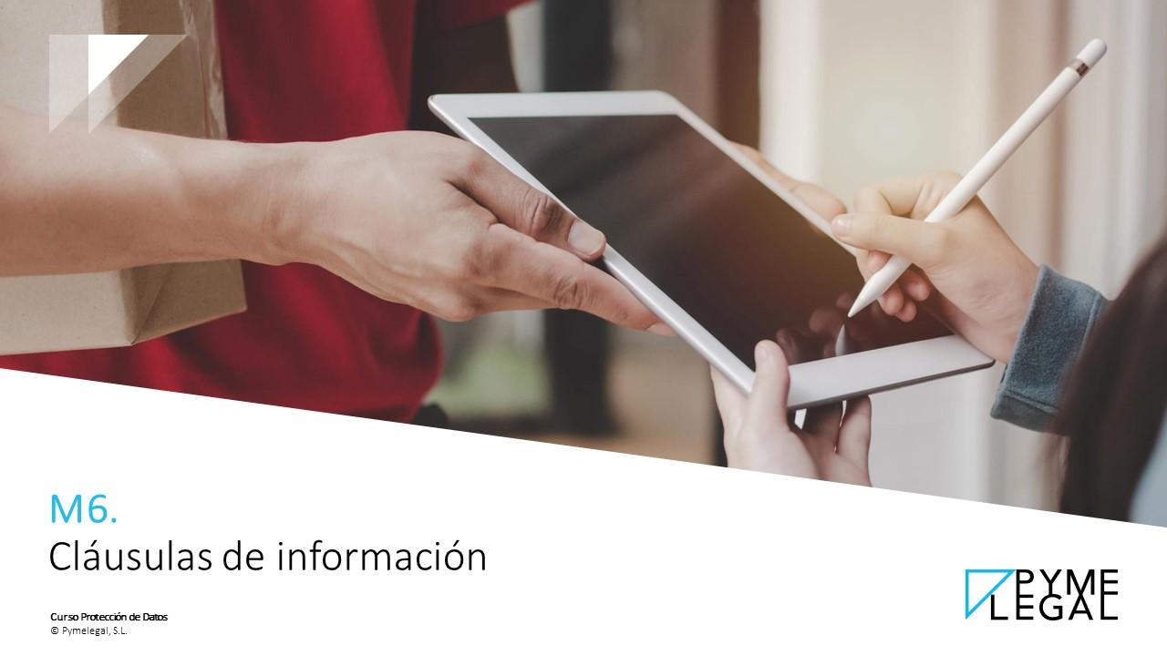 Módulo 6: Cláusulas de información